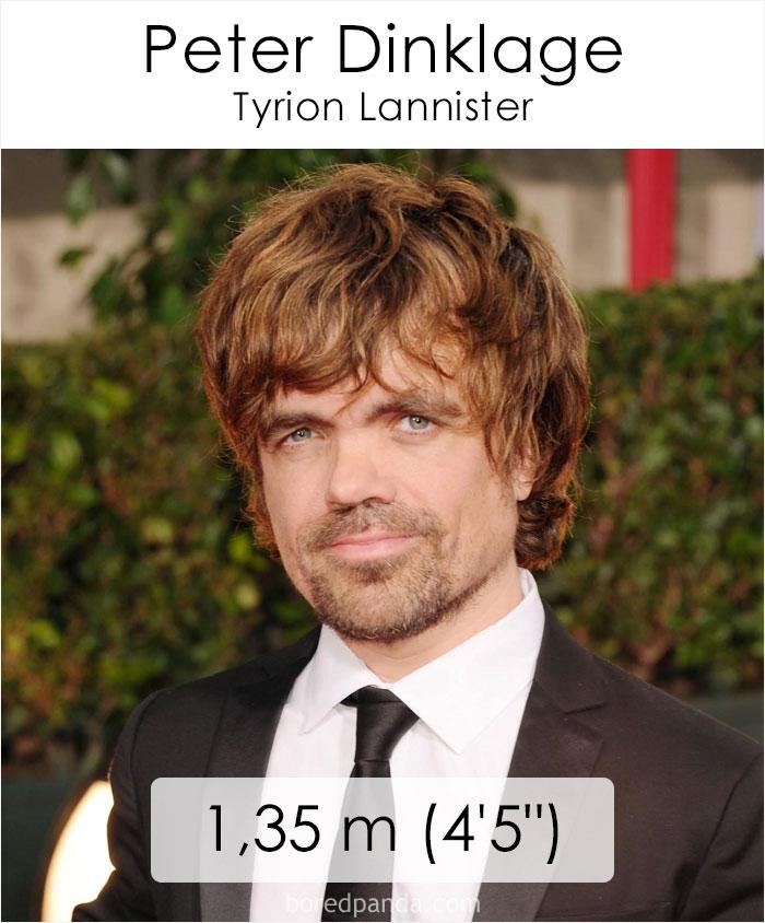 Peter Dinklage/Tyrion Lannister (boredpanda.com)