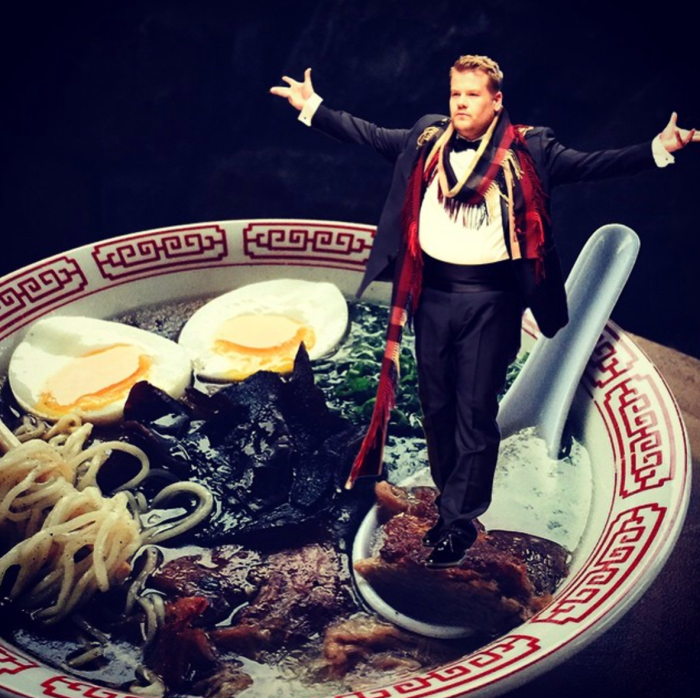 James Corden (Celebrities in Ramen/Instagram)