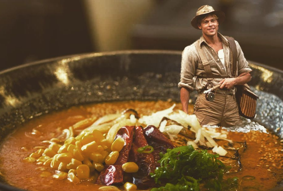 Brad Pitt (Celebrities in Ramen/Instagram)