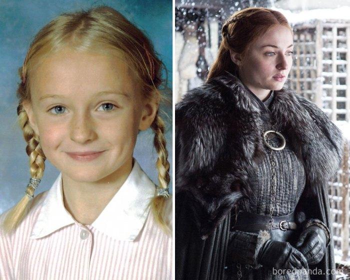 Sophie Turner as Sansa Stark (boredpanda.com)