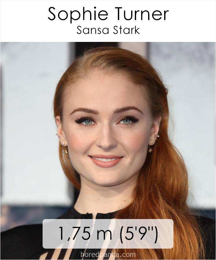 Sophie Turner/Sansa Stark (boredpanda.com)