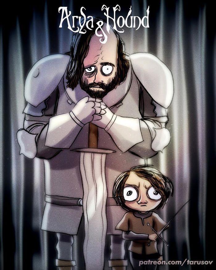 Arya Stark e The Hound (Andrew Tarusov)