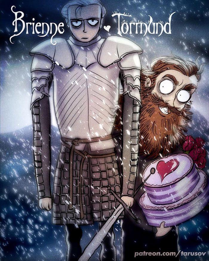 Brienne & Tormund (Andrew Tarusov)