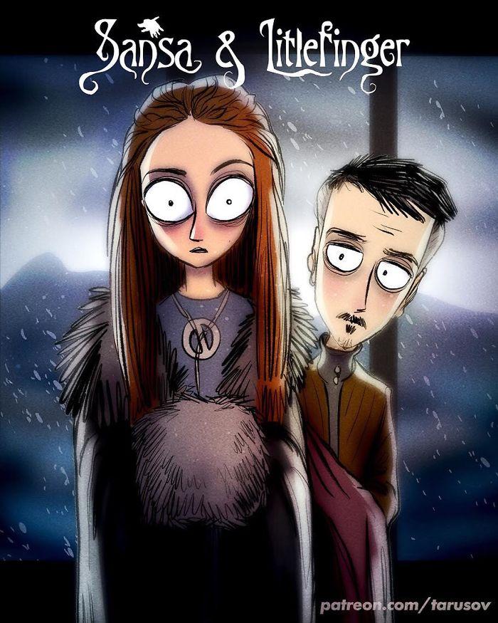 Sansa Stark & Littlefinger (Andrew Tarusov)