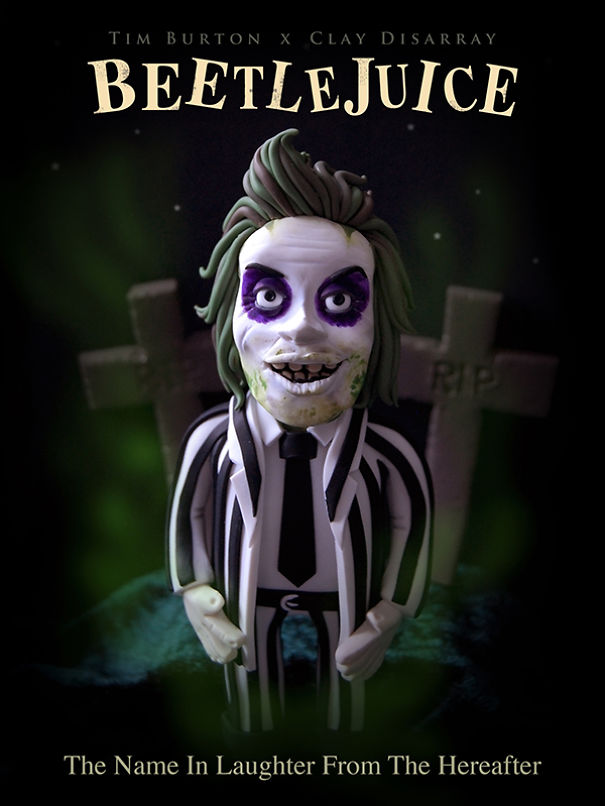 Beetlejuice - Tim Burton, 1988 (Clay Disarray)