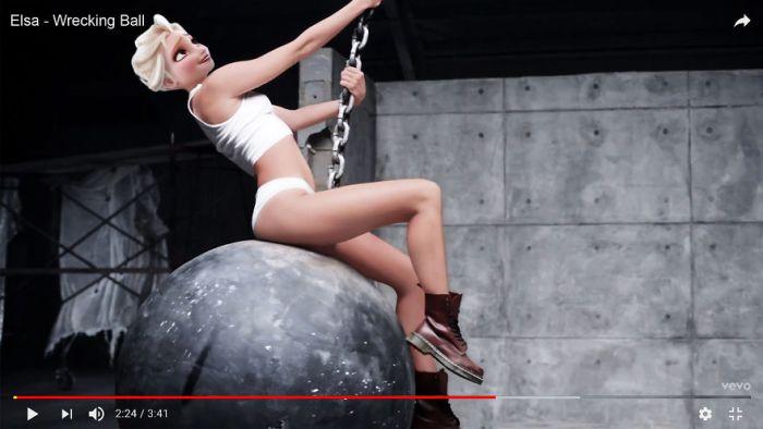 Elsa as Miley Cyrus - Wrecking Ball (Gregory Masouras)