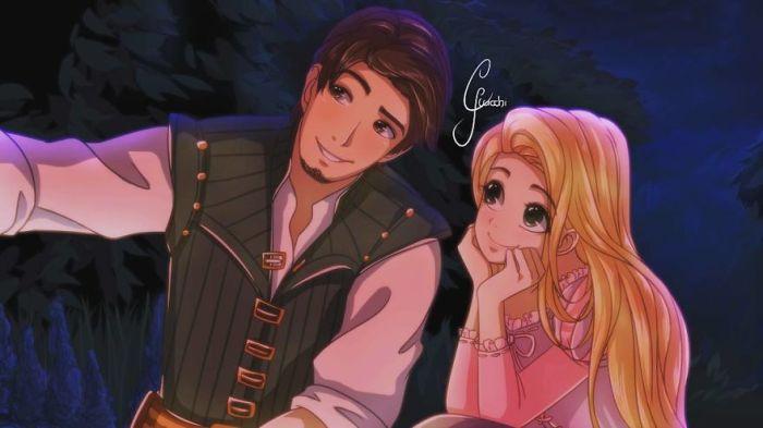 Flynn Rider e Rapunzel (Giulliano Ricchi)