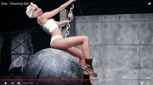 Elsa as Miley Cyrus - Wrecking Bell (Gregory Masouras)