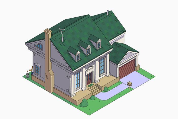 Casa dei Simpson in stile American Colonial (NeoMam)
