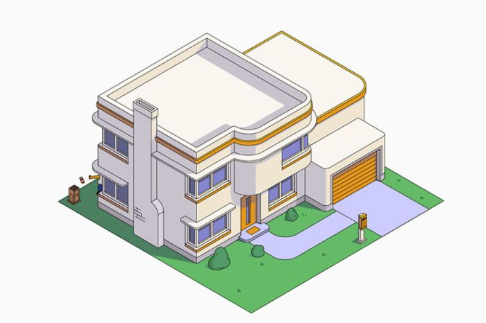 Casa dei Simpson in stile Art Deco (NeoMam)