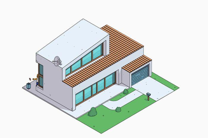 Casa dei Simpson in stile Contemporary (NeoMam)