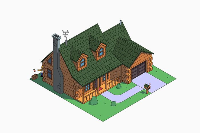 Casa dei Simpson in stile Log Cabin (NeoMam)