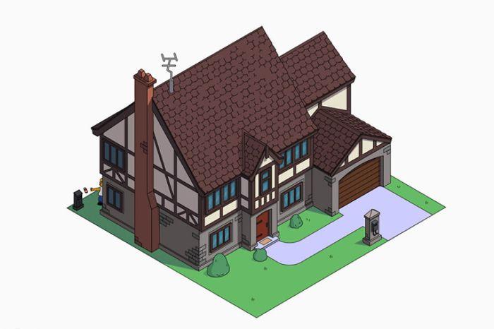 Casa dei Simpson in stile Tudor Revival (NeoMam)