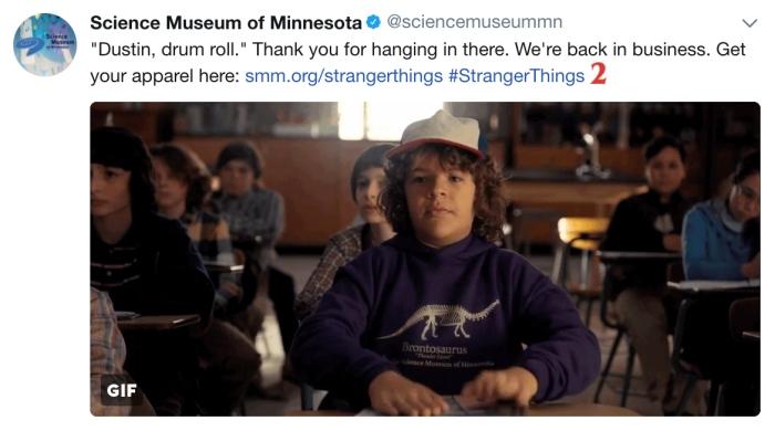 Felpa Dustin (Science Museum of Minnesota)
