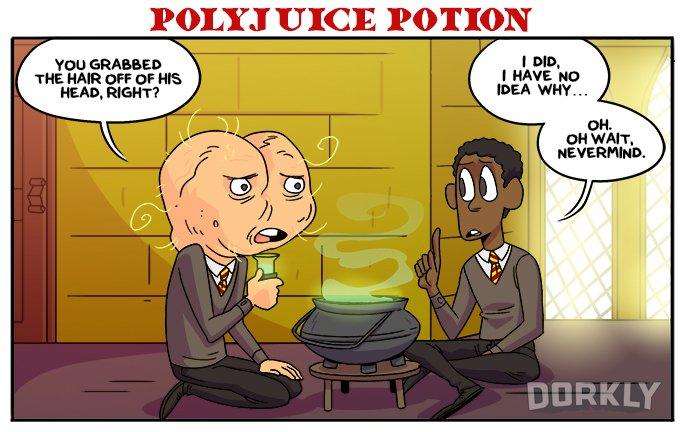 Polyjuice potion (Dorkly)