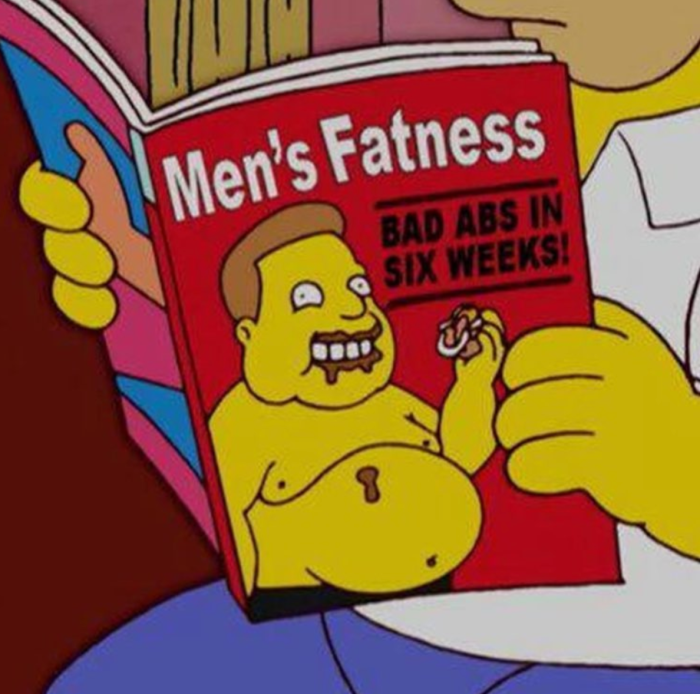 Men's Fatness (Simpsons Library/Instagram)