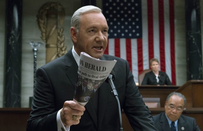 Kevin Spacey/Frank Underwood (House of Cards/Netflix)