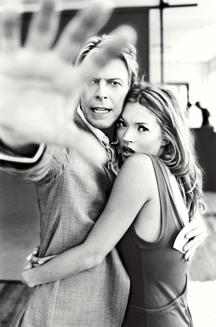 Kate Moss e David Bowie (Ellen von Unwerth)