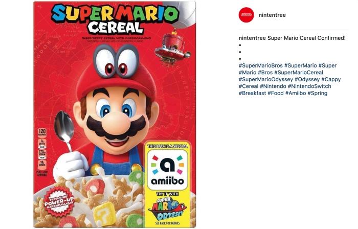 Super Mario Cereal (Nintendo/Instagram)