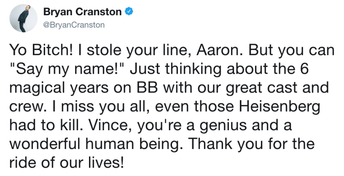 Bryan Cranston/Twitter