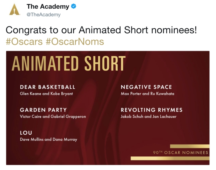 The Academy/Twitter