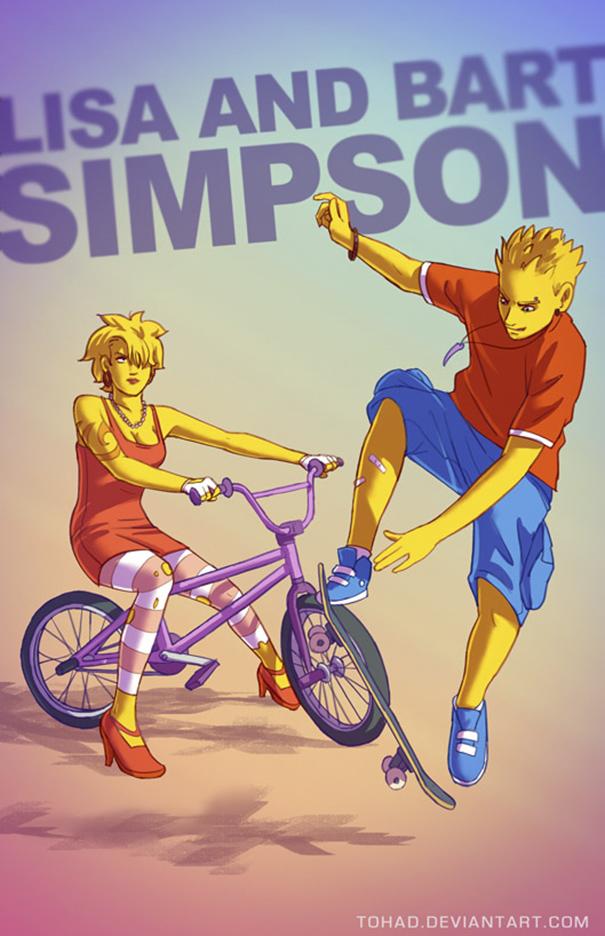 Lisa e Bart Simpson (Tohad Deviantart)