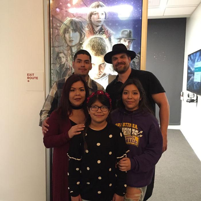 David Harbour, Dameris Fregoso e famiglia