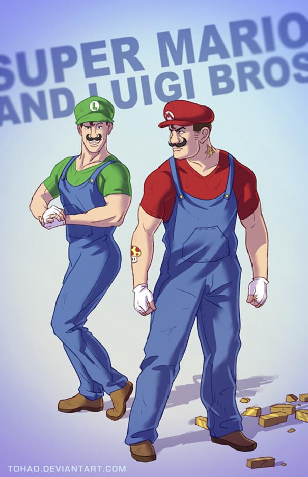 Super Mario e Luigi (Tohad Deviantart)