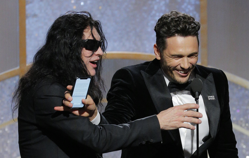 Tommy Wiseau e James Franco (Paul Drinkwater/NBCUniversal via Getty Images)