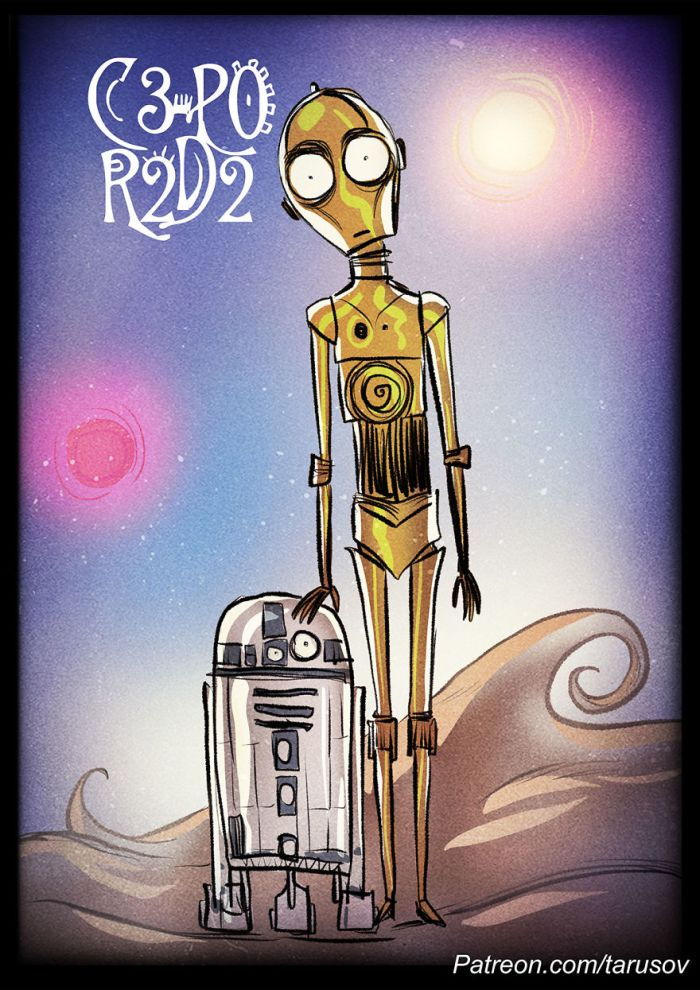 C-3PO e R2-D2 (Andrew Tarusov)