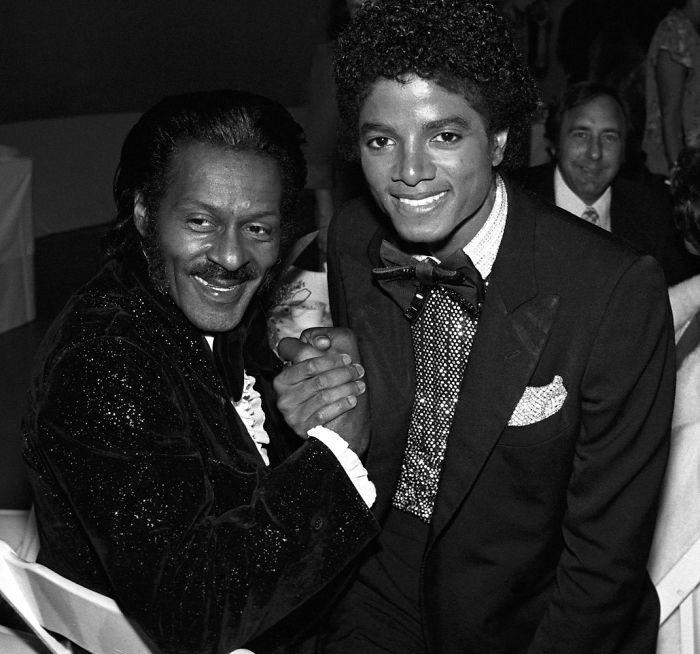 Chuck Berry e Michael Jackson, 1979 (Brad Elterman)
