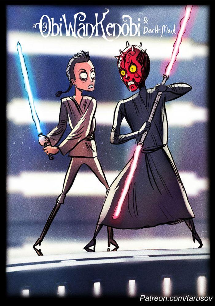 Obi-Wan Kenobi e Darth Maul (Andrew Tarusov)