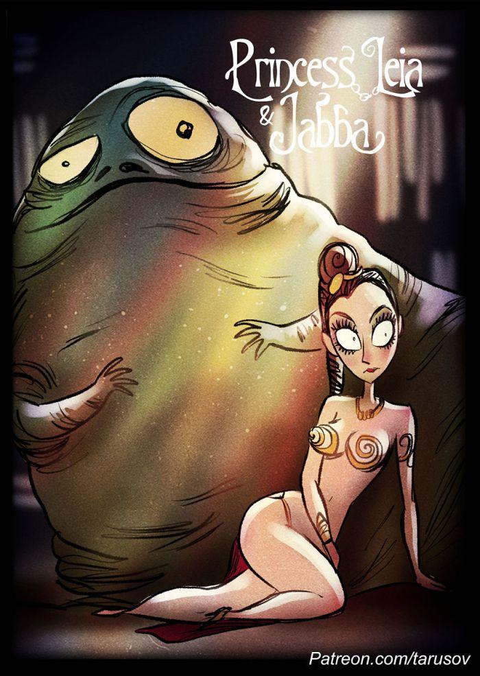Principessa Leila e Jabba (Andrew Tarusov)