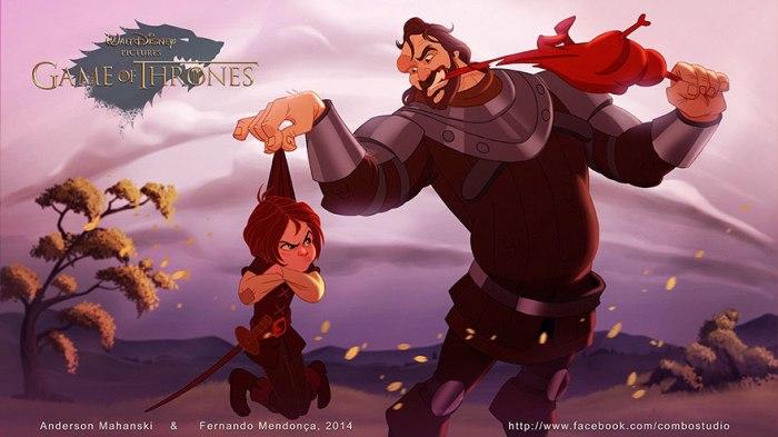 Arya Stark and The Hound (Combo Estudio)