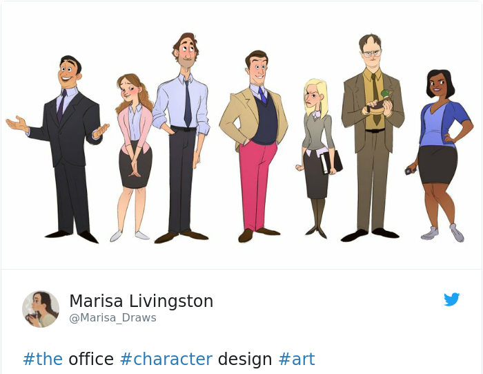 The Office characters (Marisa Livingston)