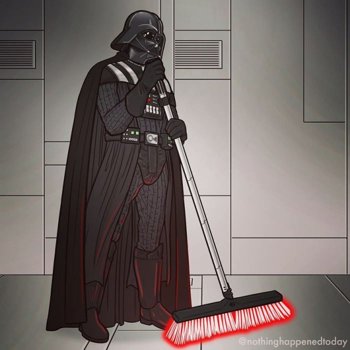 Darth Vader (Ed Harrington/Instagram)