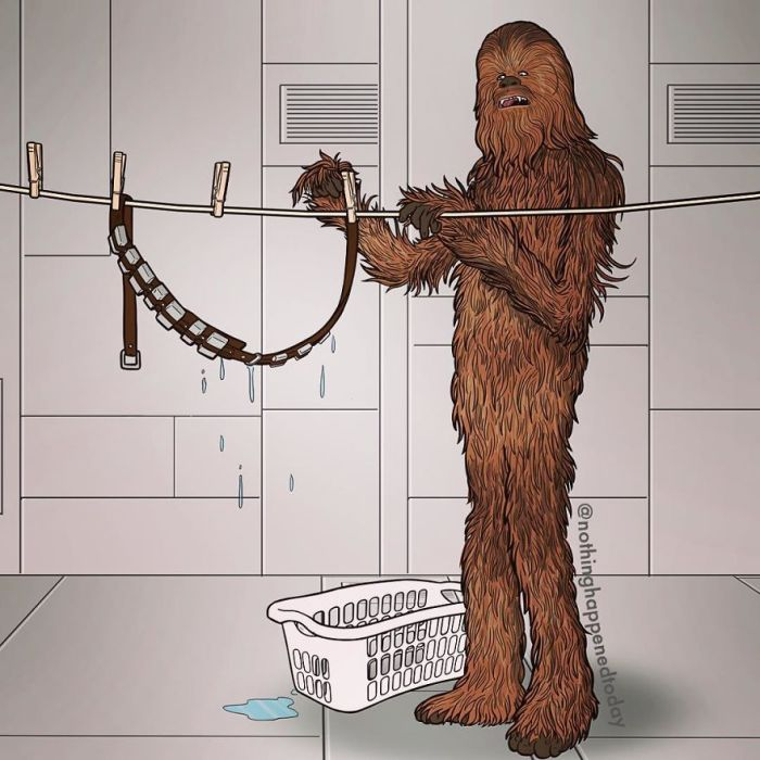 Chewbacca (Ed Harrington/Instagram)