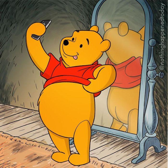 Winnie the Pooh (Ed Harrington/Instagram)