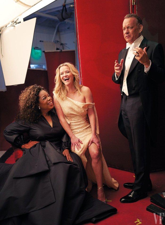 Oprah Winfrey con tre mani (Vanity Fair)