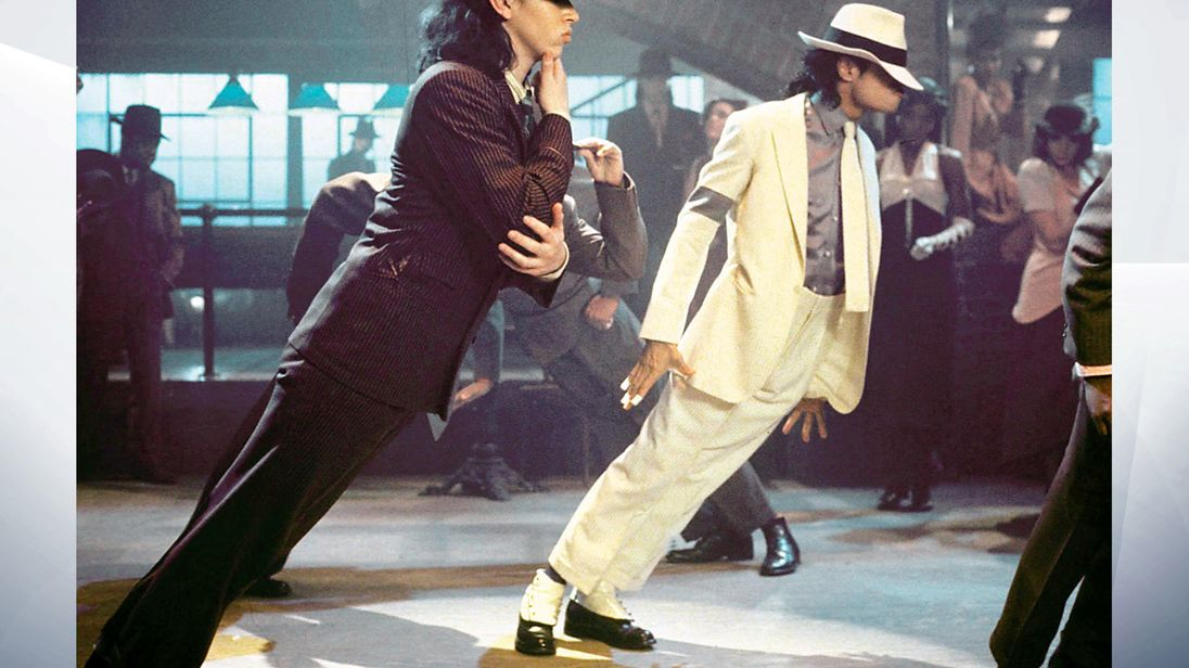 Michael Jackson nel video di Smooth Criminal