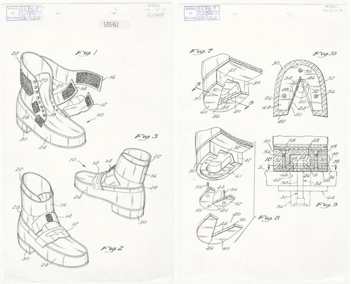 La scarpa truccata di Michael Jackson (Records of the Trademark and Patent Office via Mashable)