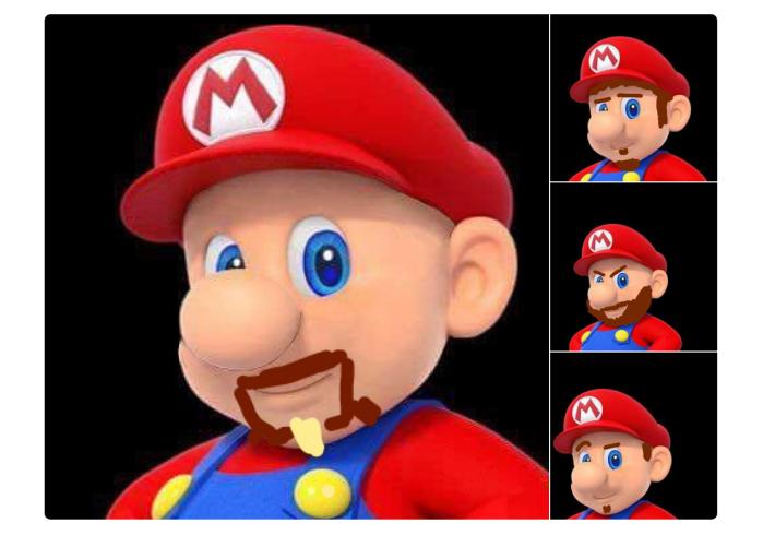 Super Mario con barba o pizzetto (Darius Kazemi/Twitter)