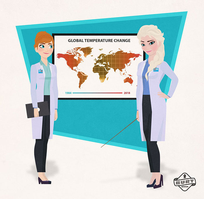 Anna ed Elsa scienziate (Matt Burt)