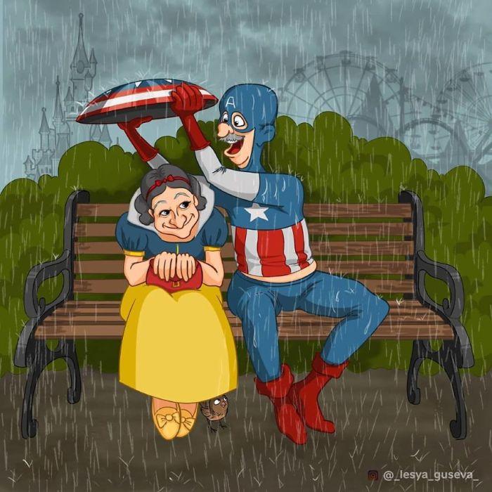 Biancaneve e Capitan America (Lesya Guseva)