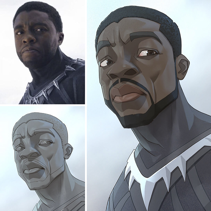 Chadwick Boseman/Pantera Nera - Black Panther (Xi Ding)