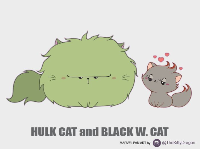 Hulk Cat e Black W. Cat (The Kitty Dragon)