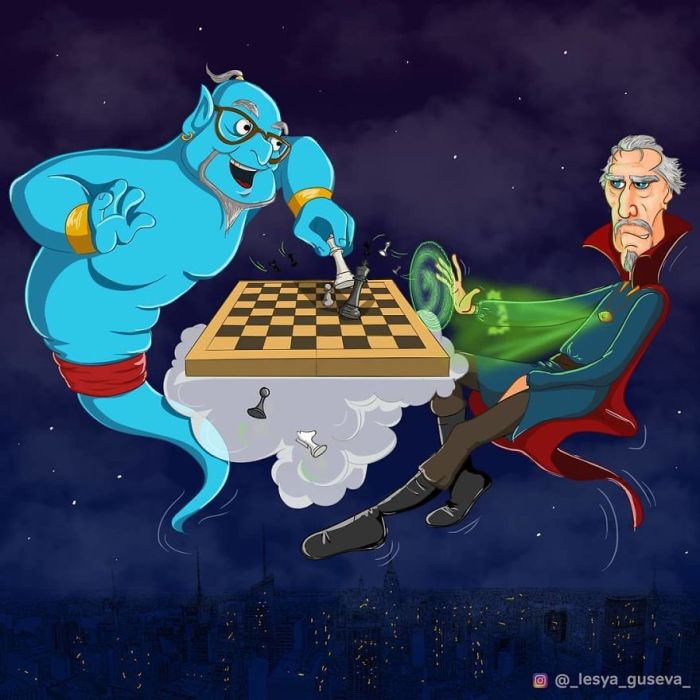 Il Genio della Lampada e il Dottor Strange (Lesya Guseva)