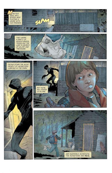 Anteprima delle pagine del fumetto di Stranger Things (Dark Horse)