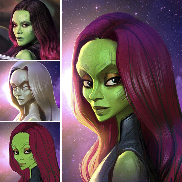 Zoe Saldana/Gamora - Guardiani della Galassia (Xi Ding)