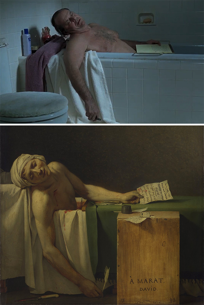 About Schmidt (2002)/La morte di Marat (1793)